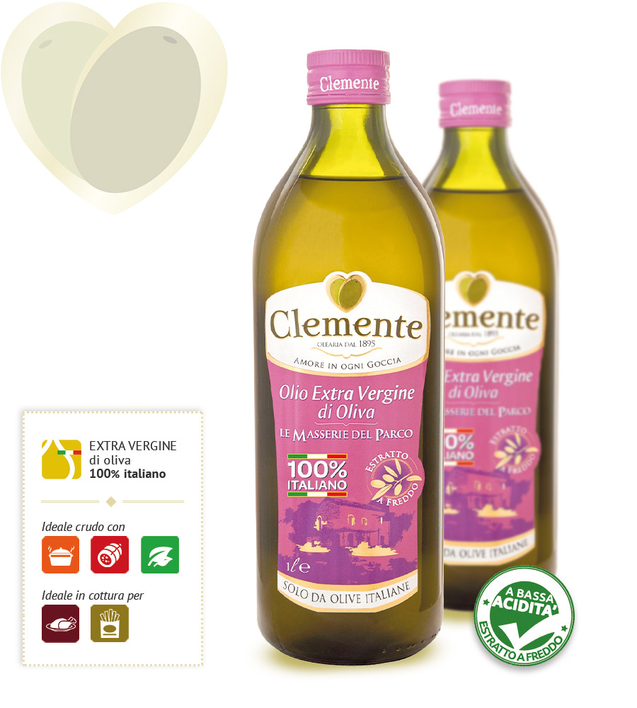 Olio Extravergine 100% Italiano - Le Masserie del Parco 1 Litro