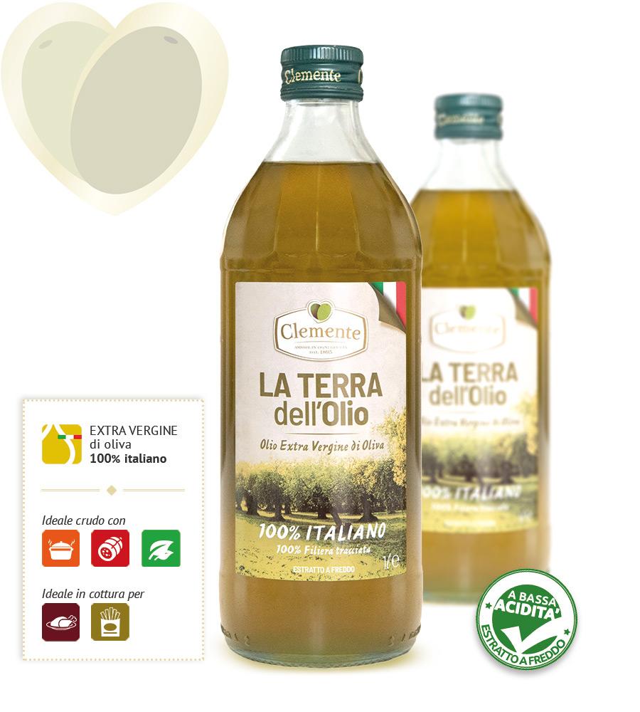 Olio extravergine 100% Italiano - La Terra dell'Olio 1 Litro